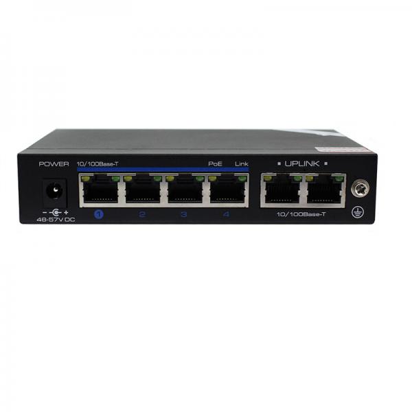 Switch POE 6 ports ethernet RJ45 pour caméra IP