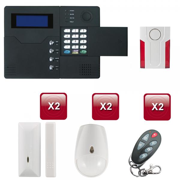 Centrale d'alarme sans Fil GSM - RTC ST-V pack-4