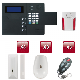 Centrale d'alarme sans Fil GSM - RTC ST-V 2 /3 pièces pack 3