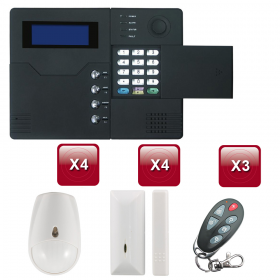 Centrale d'alarme sans Fil GSM - RTC ST-V 3 /4 pièces pack 1
