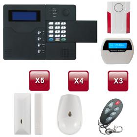 Centrale d'alarme sans Fil GSM - RTC ST-V 3 /4 pièces pack 4