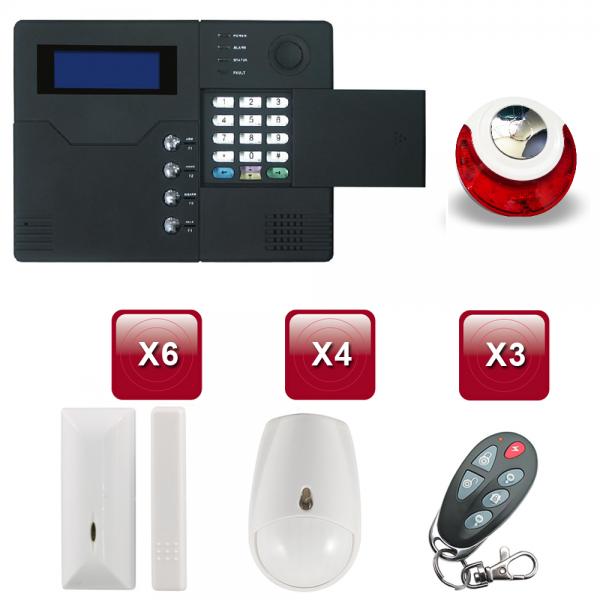 Centrale d'alarme sans Fil GSM - RTC ST-V 4 /5 pièces pack 2