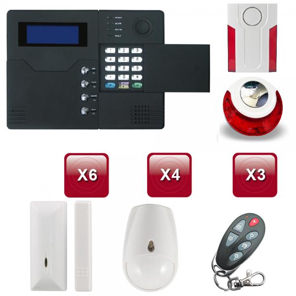 Centrale d'alarme sans Fil GSM - RTC ST-V 4 /5 pièces pack 4