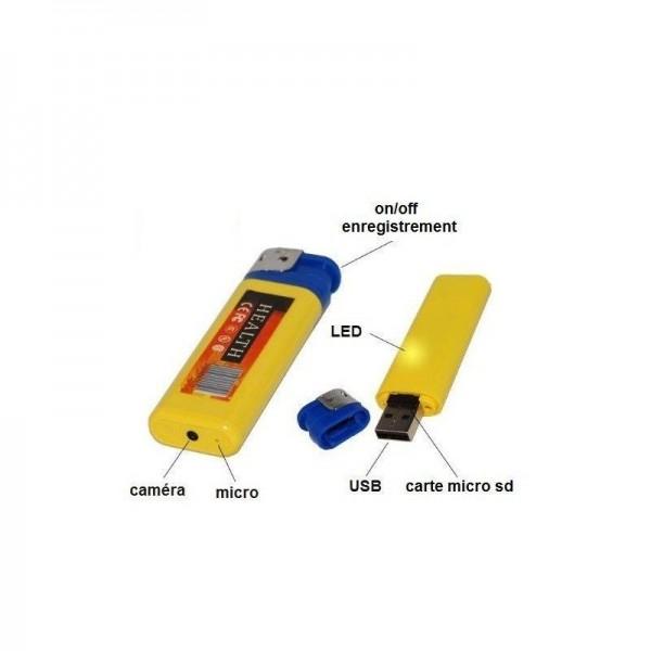 briquet camera espion mini avec micro intégré