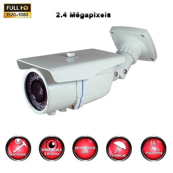 kit vidéo surveillance professionnel HD 4 Caméras tubes varifocale SONY FULL HD 1080P Enregistreur DVR AHD disque dur Pack vidéo