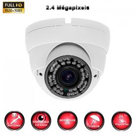 Caméra dôme Sony Varifocal IR Full AHD 1080N 2.4 MP OSD WDR