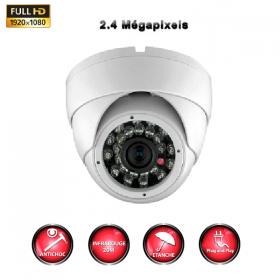 Caméra dôme surveillance Sony IR AHD PRO FULL AHD 1080P 2.4 MP WDR OSD infrarouge exterieure