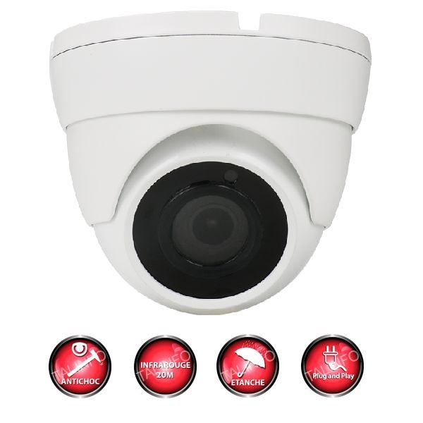 camera de surveillance exterieure anti vandale 1080p full hd infrarouge vision nocturne sony
