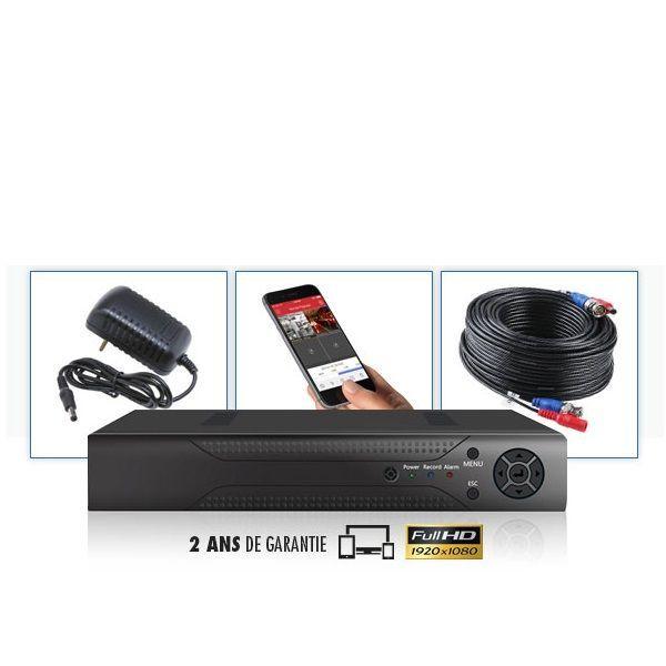 Kit vidéosurveillance 4 caméras tubes enregistreur videosurveillance numerique