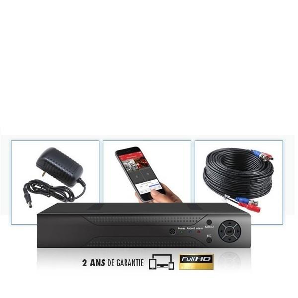 Kit vidéosurveillance 6 caméras enregistreur numerique DVR 8 voies FULL AHD SONY 960P 1.3 MP