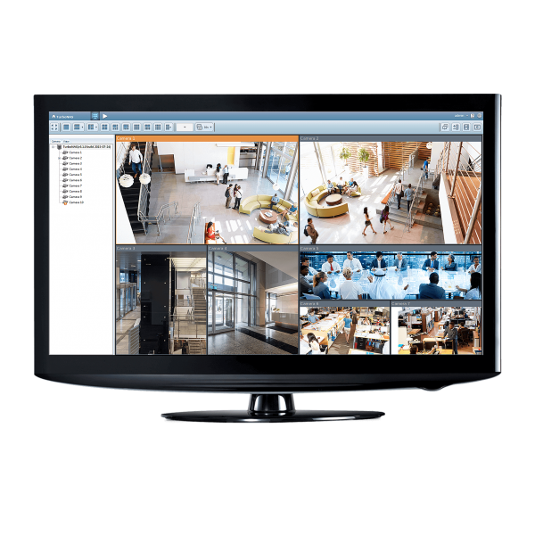 ecran pour Kit vidéosurveillance 8 caméras tubes PRO FULL AHD 1080P SONY 2.4 MP
