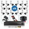kit hd vidéo surveillance professionnel HD 16 Caméras tubes varifocale SONY FULL 1080P Enregistreur DVR AHD disque dur Pack vidé