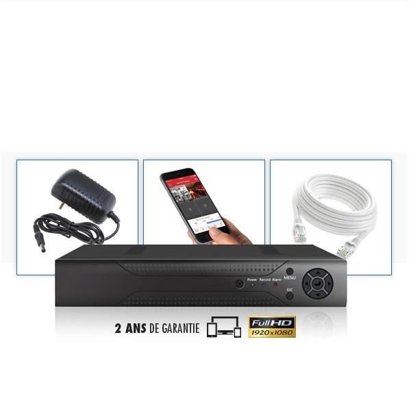 Kit vidéosurveillance 6 caméras IP tubes POE PRO FULL HD 1080P 2.4 MP