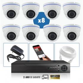 kit vidéo surveillance professionnel HD 8 Caméras IP POE Dômes IR SONY FULL HD 1080P Enregistreur NVR AHD disque dur Pack vidéo