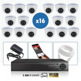 kit vidéo surveillance professionnel HD 16 Caméras IP exterieures POE Dômes IR SONY FULL HD 1080P Enregistreur NVR AHD disque du