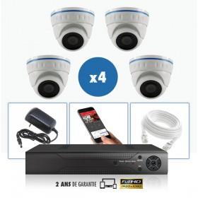 kit vidéo surveillance professionnel AHD 4 Caméras IP POE Dômes IR SONY FULL HD 1080P Enregistreur NVR AHD disque dur Packs vidé