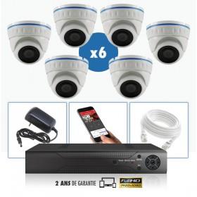 kit vidéo surveillance professionnel AHD 6 Caméras IP POE Dômes IR SONY FULL HD 1080P Enregistreur NVR AHD disque dur Packs vidé