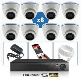 kit vidéo surveillance professionnel AHD 8 Caméras IP POE Dômes IR SONY FULL HD 1080P Enregistreur NVR AHD disque dur Packs vidé