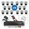 kit vidéo surveillance professionnel AHD 16 Caméras IP POE Dômes IR SONY FULL HD 1080P Enregistreur NVR AHD disque dur Packs vid