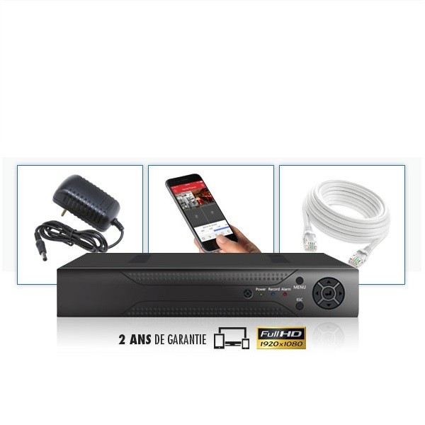 Enregistreur NVR IP 4 voies FULL HD 1080P