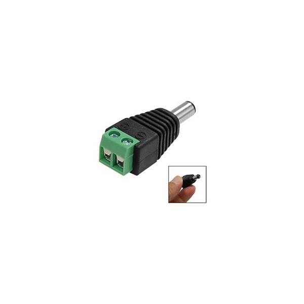 Connecteur éléctrique male pour camera videosurveillance