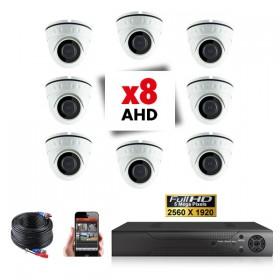 Kit vidéosurveillance 8 caméras PRO FULL AHD SONY 5MP