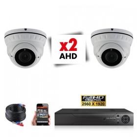 Kit vidéosurveillance 2 caméras varifocales PRO FULL AHD SONY 5MP
