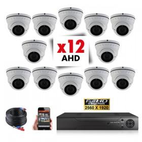 Kit vidéosurveillance 12 caméras varifocales PRO FULL AHD SONY 5MP