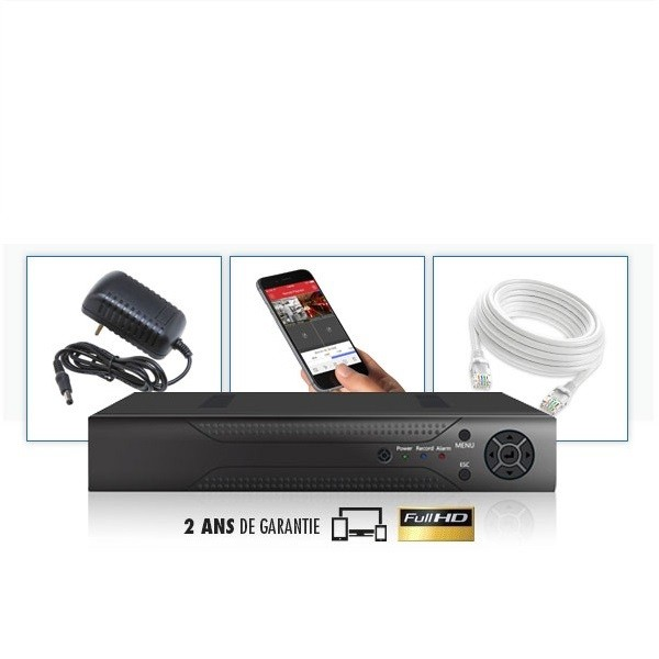 Kit vidéosurveillance 8 caméras tubes varifocales IP POE PRO FULL HD H265 5MP