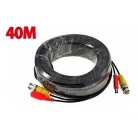 Câble vidéo 2 en 1 Alim + vidéo de 40m  pour camera surveillance