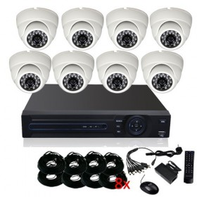 Kit vidéosurveillance Super Cmos 8 caméras 800 TVL