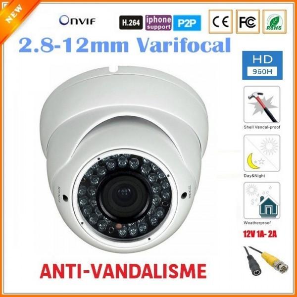Pack vidéosurveillance 6 caméras FULL HD SONY 700 TVL varifocal DVR 960H