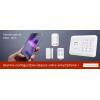 Centrale d'alarme sans Fil GSM - RTC pilotable via smartphone à distance