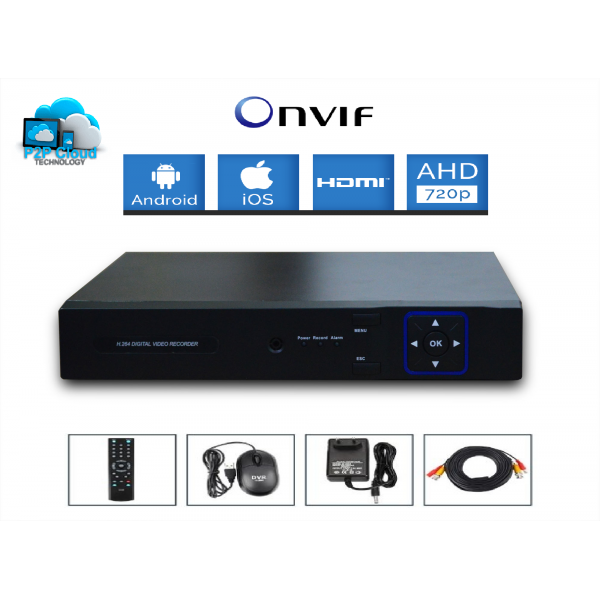 Kit vidéosurveillance 1 caméra AHD SONY 720P 1.3 MP