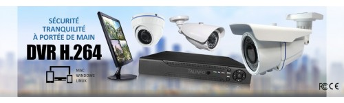 KITS VIDEOSURVEILLANCE CAMERAS FULL AHD SONY 1080P 2.0 MP