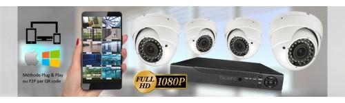 KITS VIDEOSURVEILLANCE CAMERAS PRO FULL AHD SONY 1080P 2.4 MP