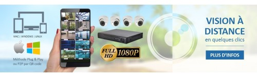 KITS VIDEOSURVEILLANCE CAMERAS IP PRO FULL HD SONY 1080P 2.4 MP