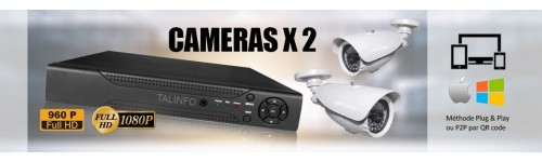 PACK 2 CAMERAS SURVEILLANCE VIDEO