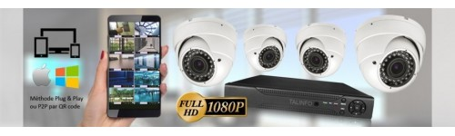 KIT VIDEOSURVEILLANCE CAMERA DOME MOTORISEE PTZ 360° PRO FULL HD 1080P