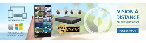 KITS VIDEOSURVEILLANCE CAMERAS IP PRO FULL HD SONY 5 MP