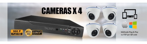 PACK 4 CAMERAS SURVEILLANCE VIDEO